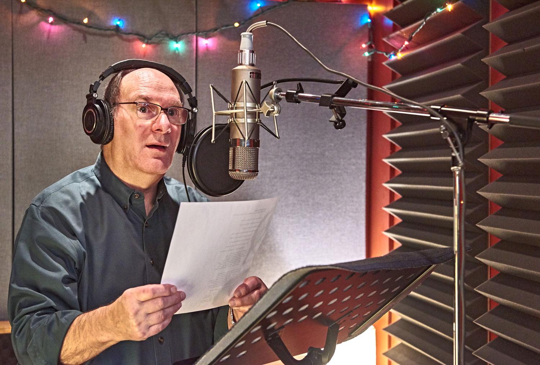 David Kaufman recording his CD, Second Promise, at Canterbury Music in Toronto, April, 2018